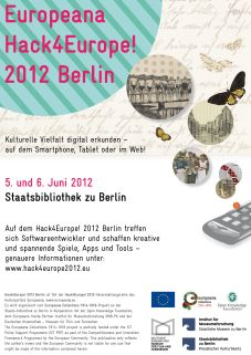 Flyer Hack4Europe! 2012 Berlin